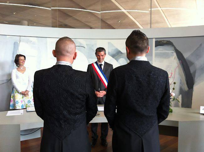 Premier mariage gay de Normandie