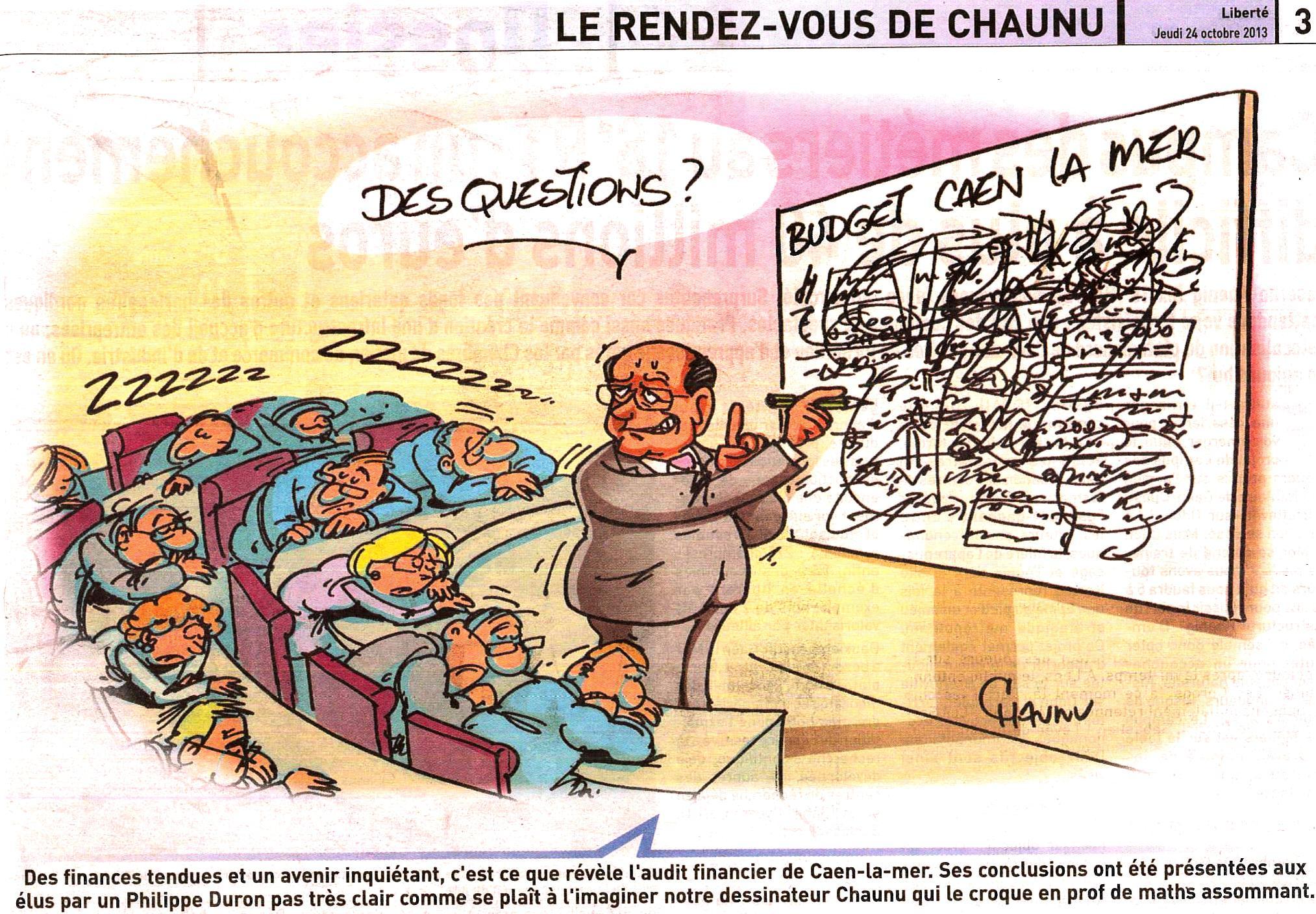 Dessin Chaunu, des questions ?