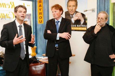 Rodolphe Thomas avec Alain Burnet et Daniel Dory. (Photo pascal Couillaud)
